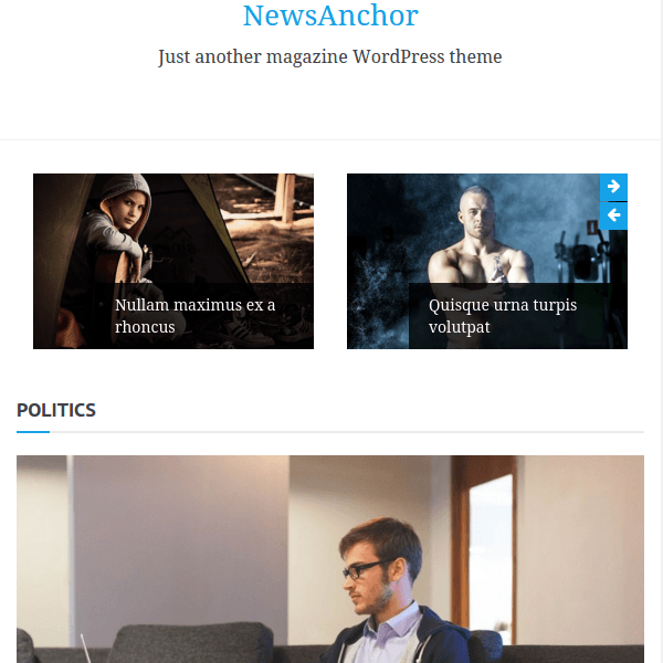 NewsAnchor WordPress Magazine Theme