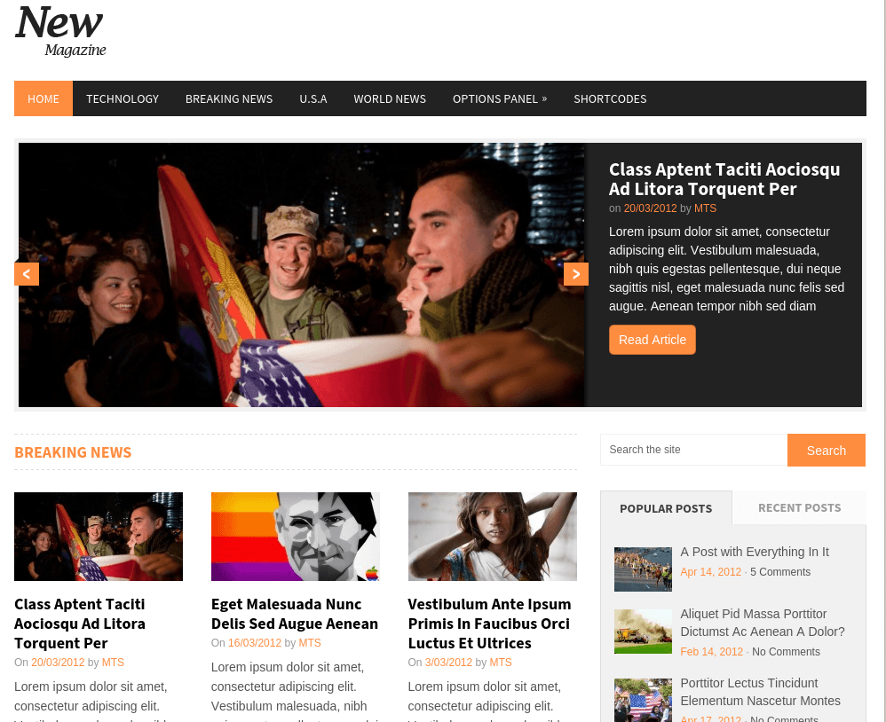 NewsMag Home Page