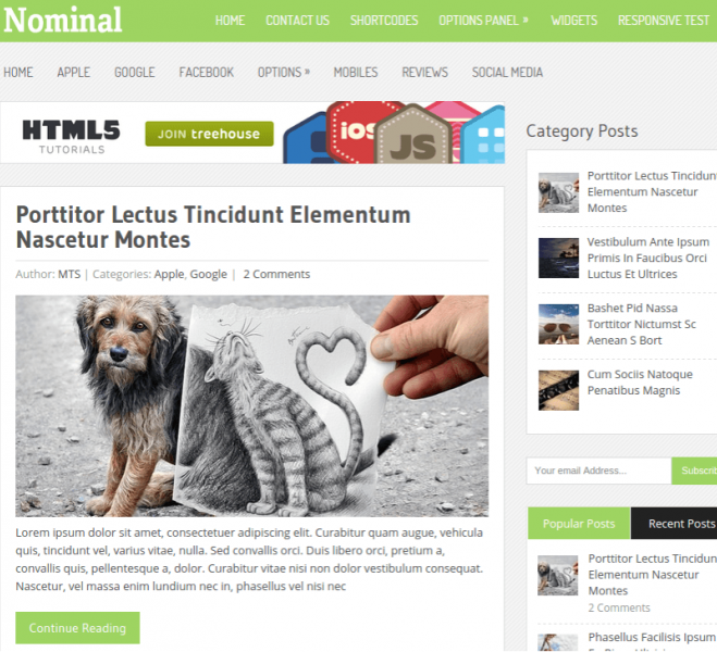 Nominal-Wordpress-theme