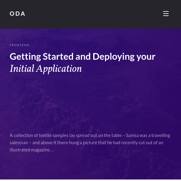 ODA — Wordpress Responsive Theme