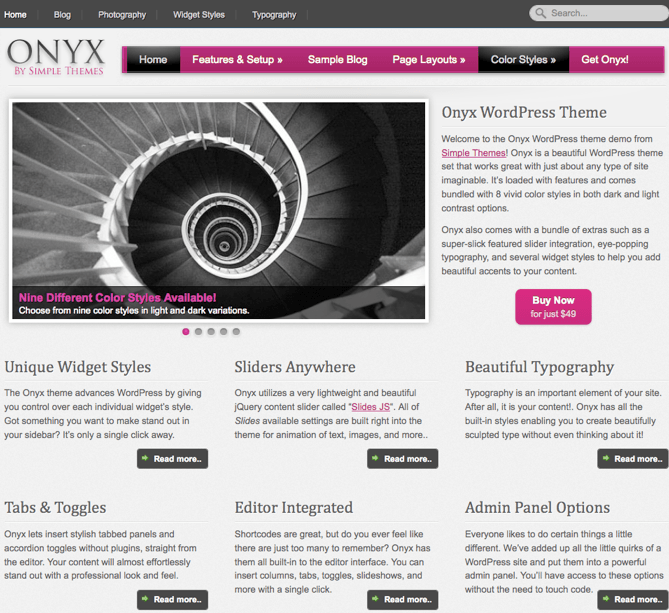 Onyx WordPress Theme