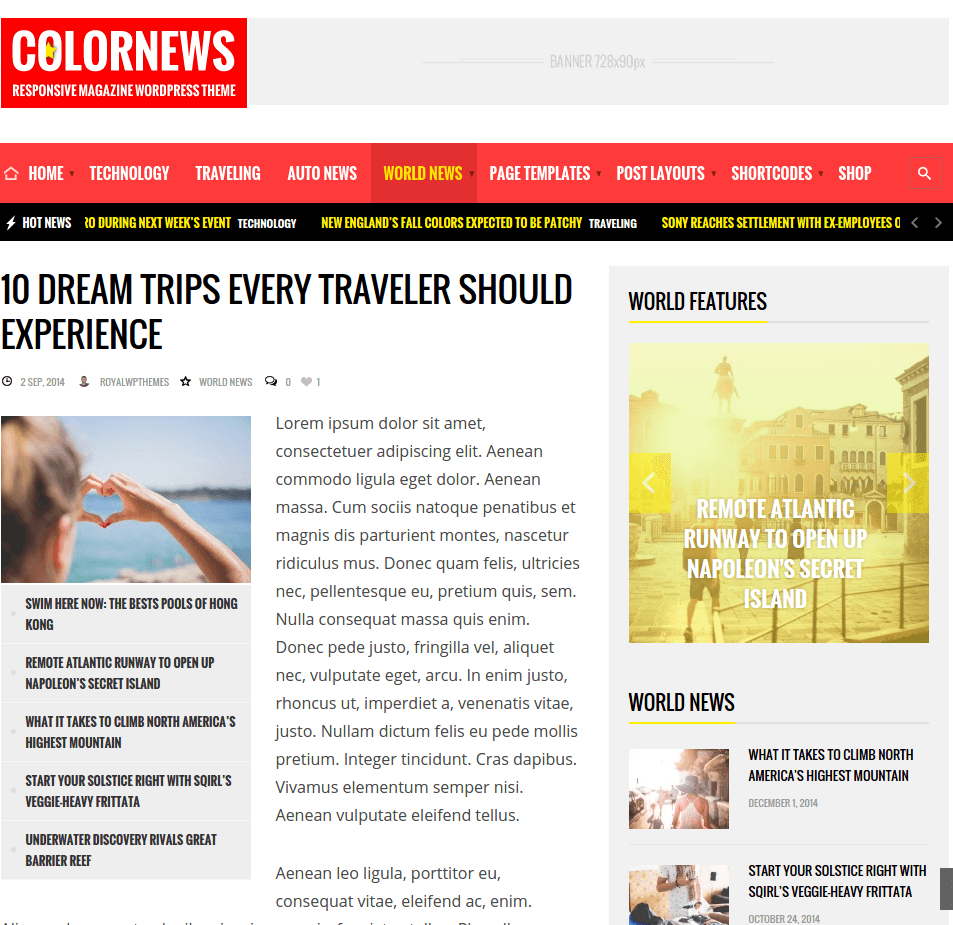 Page-With-Blog-Colornews