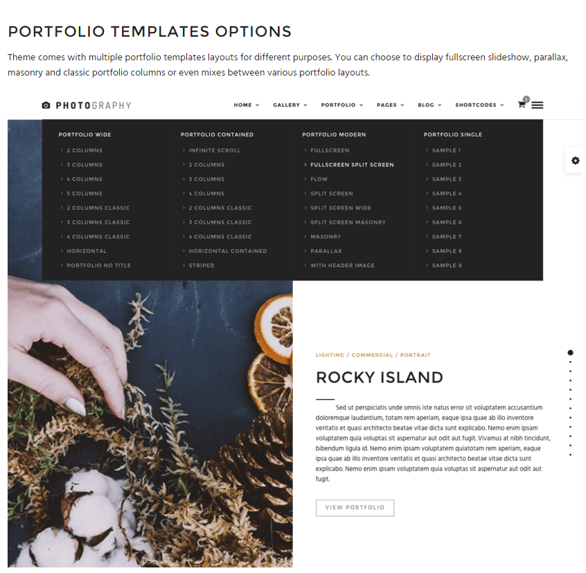 Photography- 30+ portfolio templates