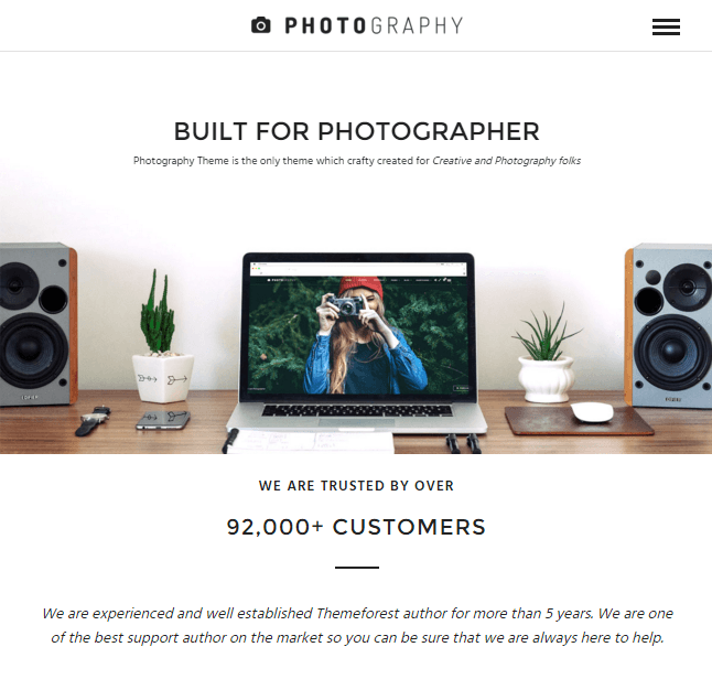 Photography- A Responsive WordPress theme