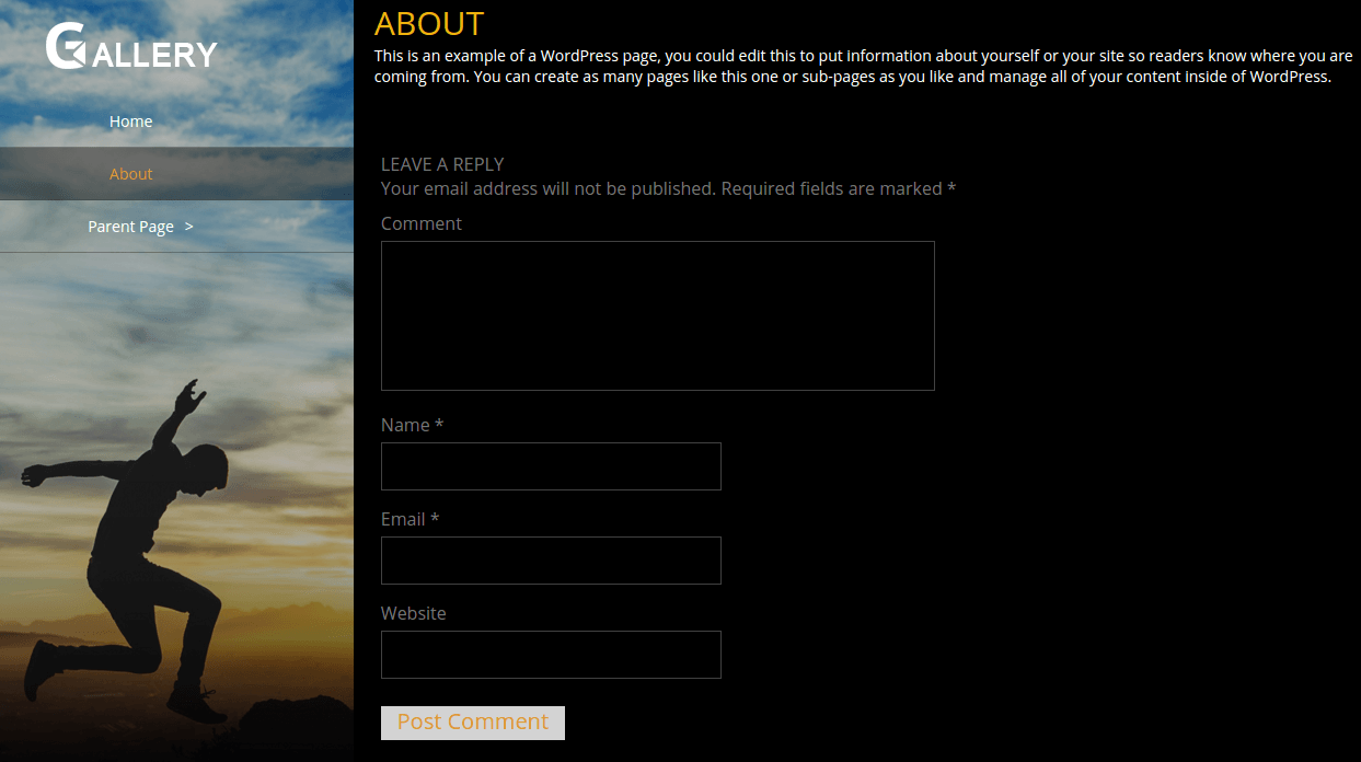 Portfolio Gallery About Preview Page