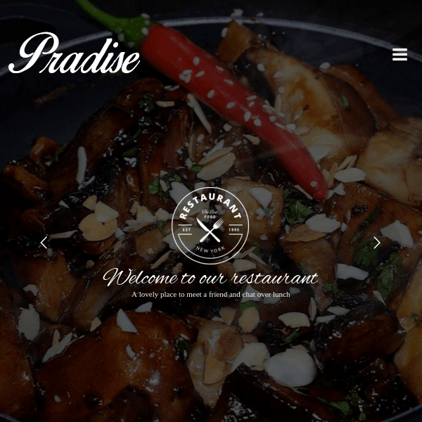 Pradise Cafe & Restaurant WordPress Theme