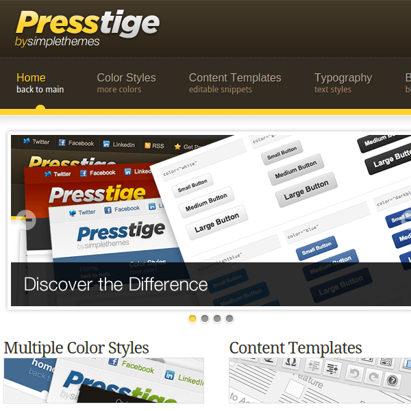 Presstige WordPress Theme