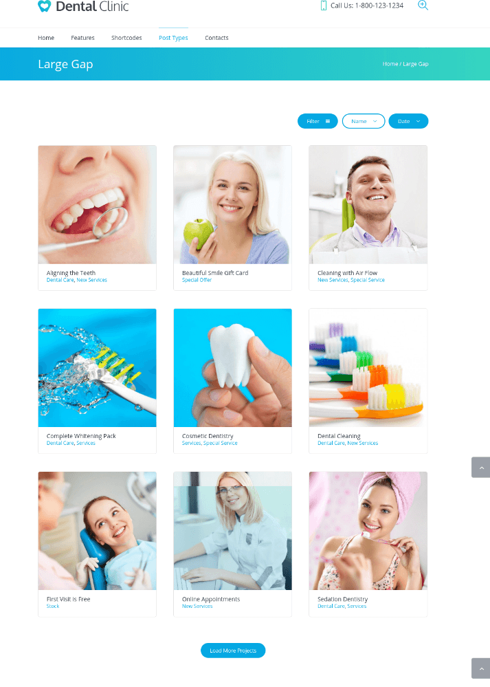 Project Page of Dental Clinic
