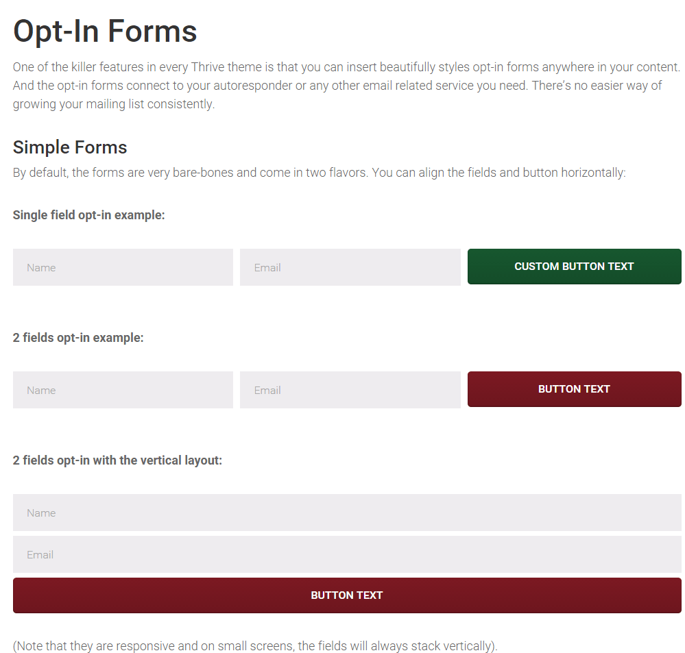 Rise- Opt-in Form using shortcode