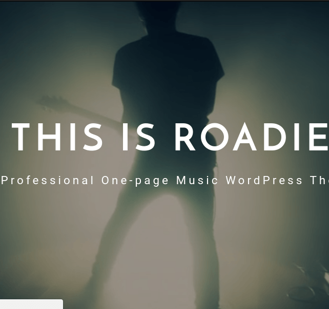 Roadie homepage