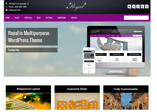 WordPress theme Royal
