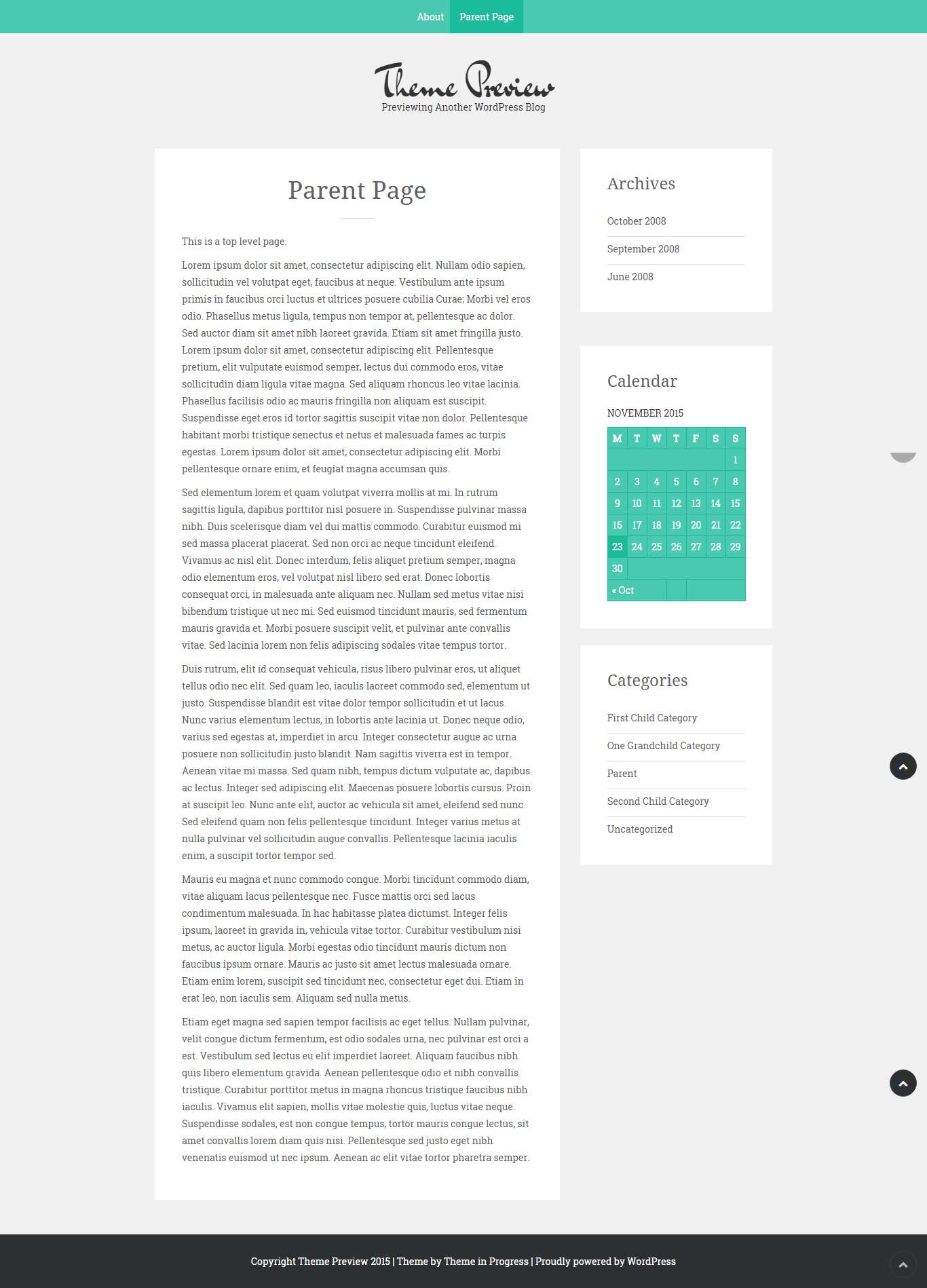 Sean Lite- Page with right sidebar layout
