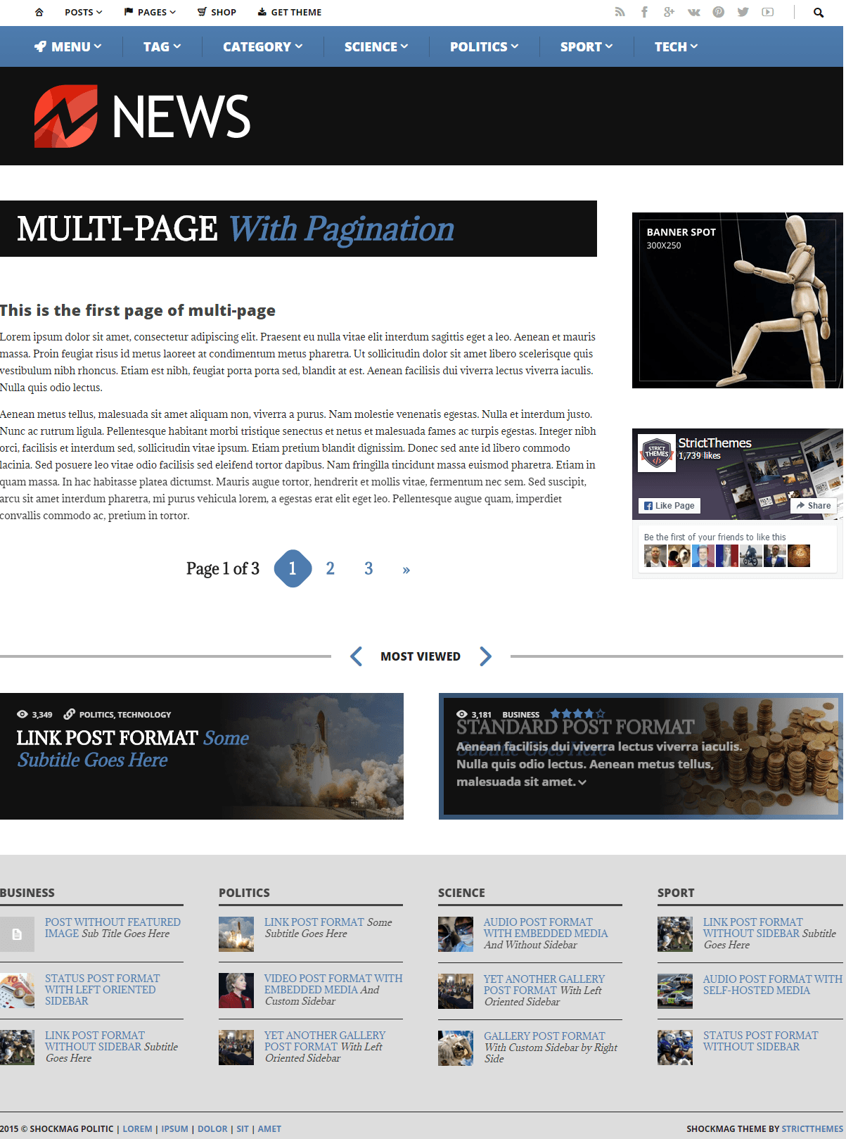 ShockMag- Multipage pagination