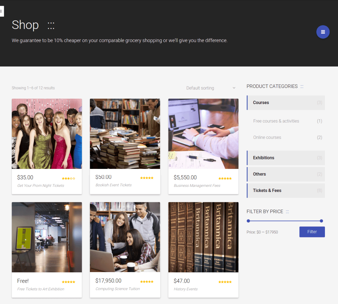 Shop Page on Lincoln