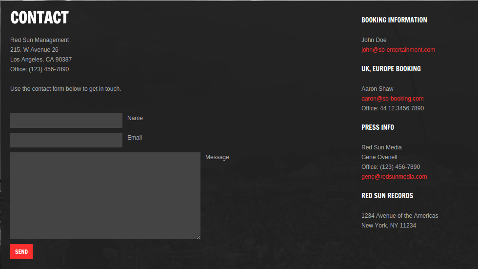 Soundboard Contact Page