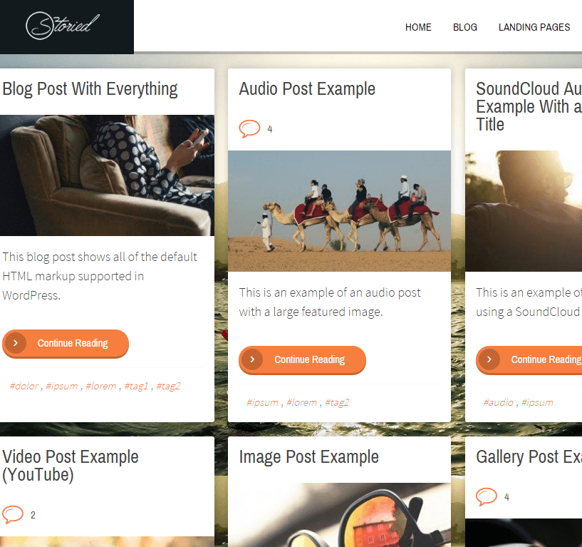 Storied- A media rich blogging WordPress theme