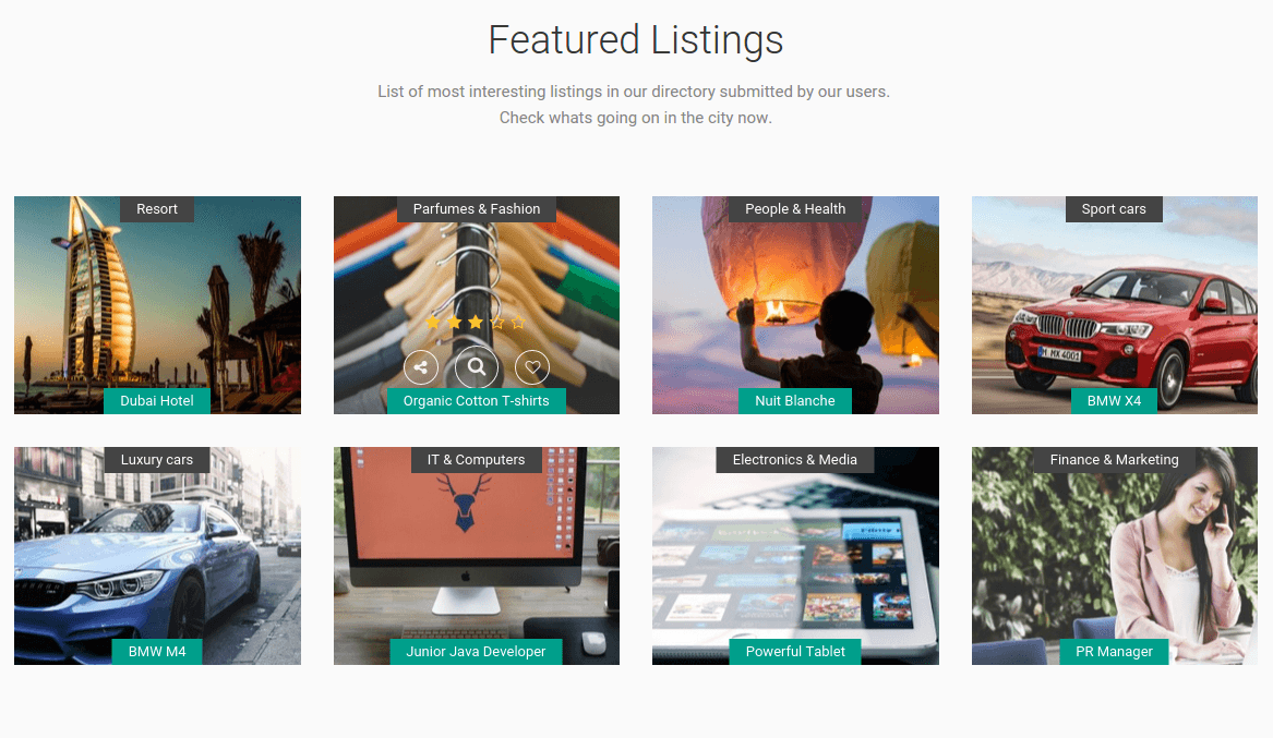 Superlist Featured Listings Section
