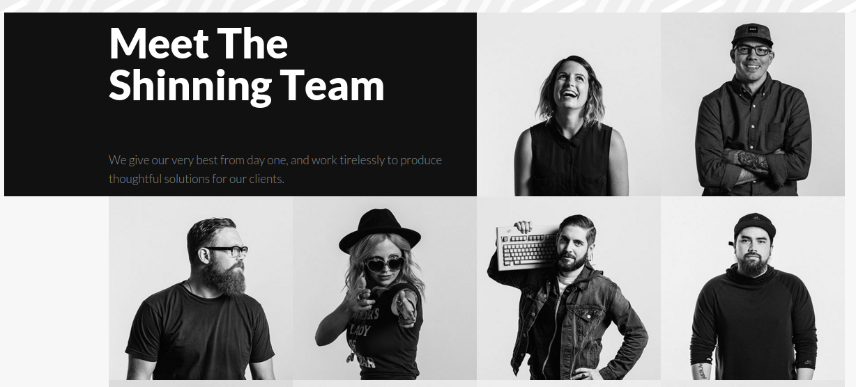Team page of raven