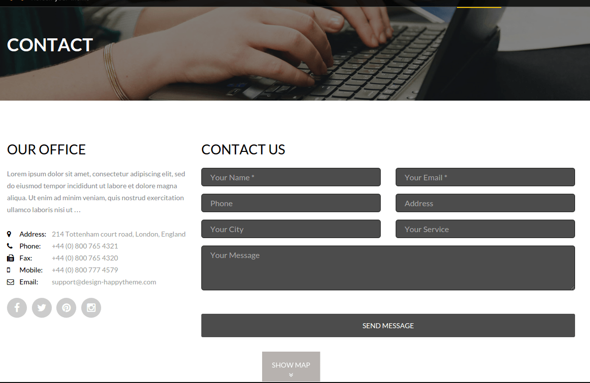 The Next Contact Page