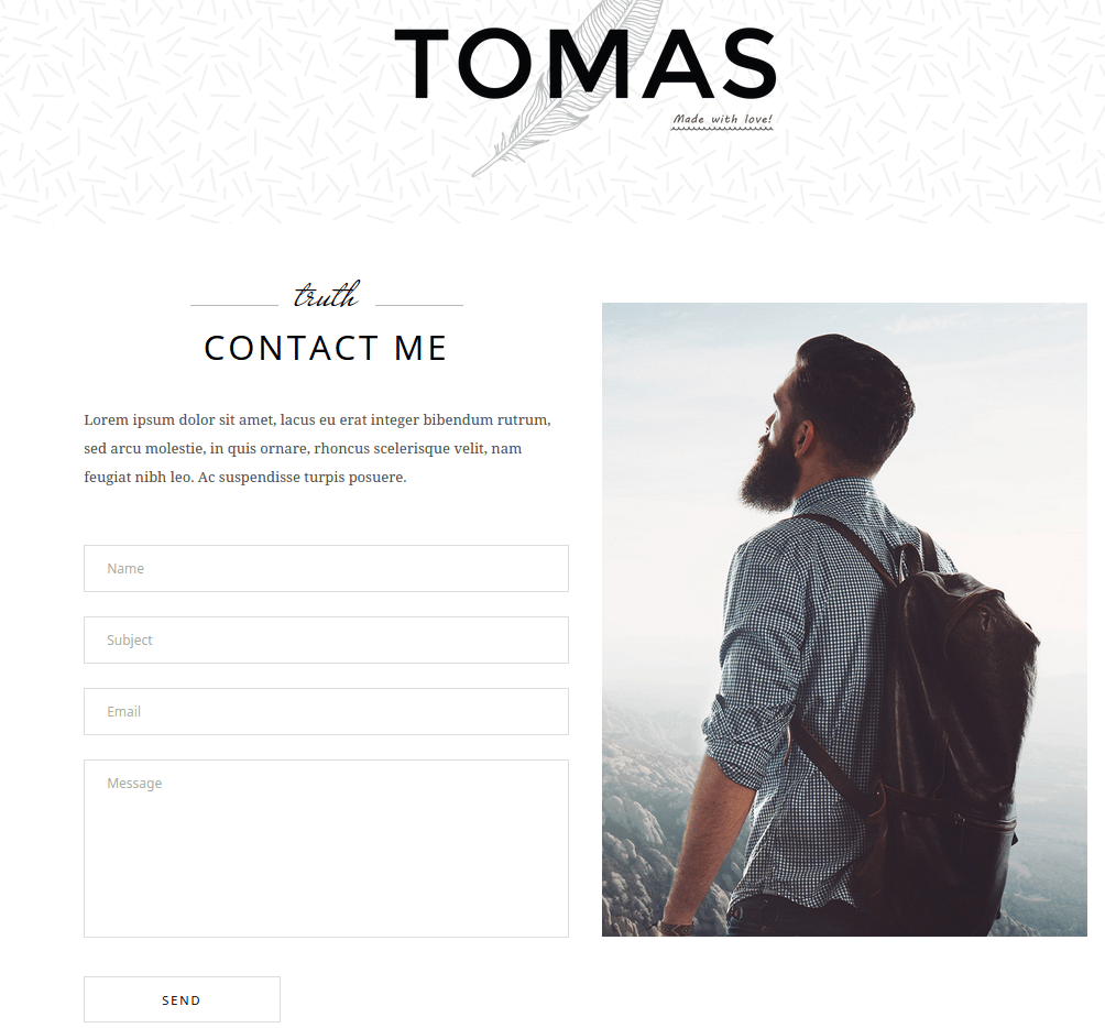 Tomas Contact Us Page