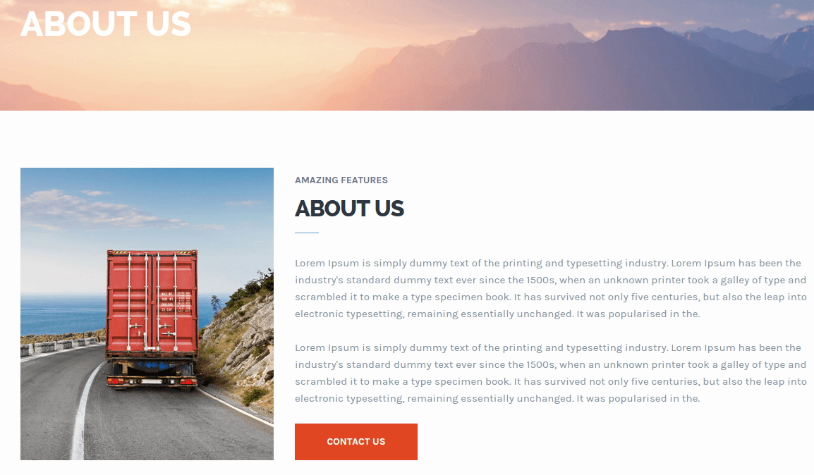 Transport About Us Page