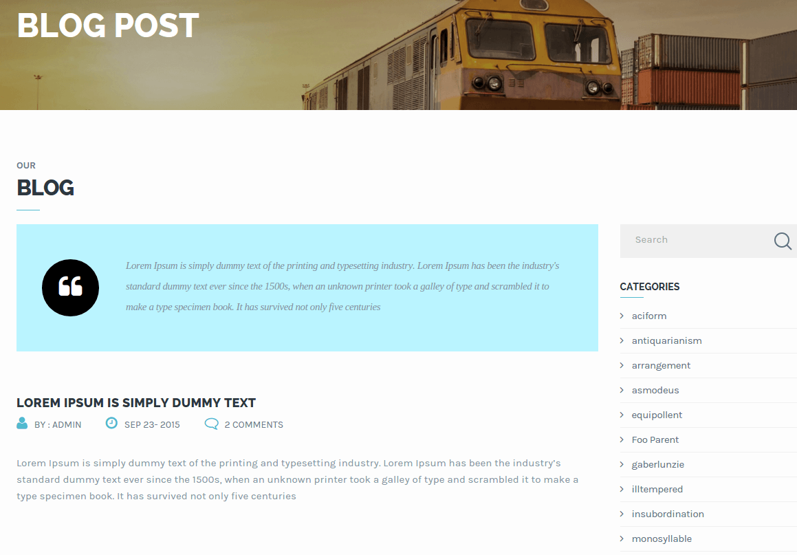 Transport Blog Page