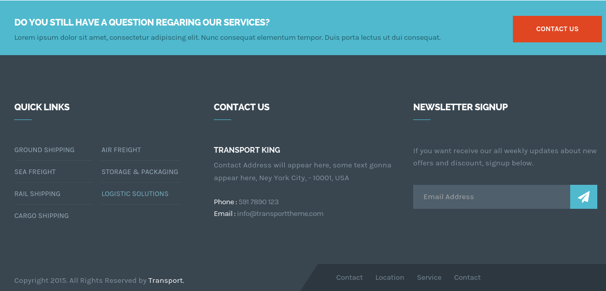 Transport Footer