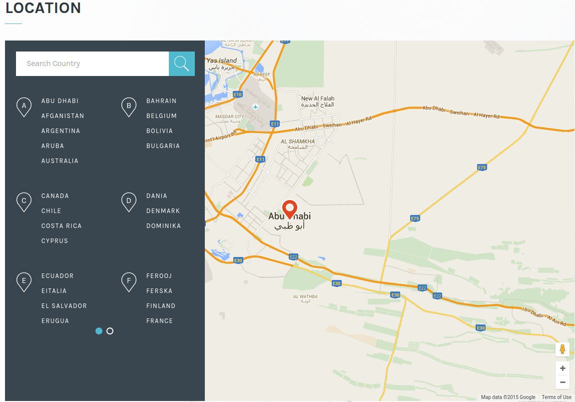 Transport Location Page