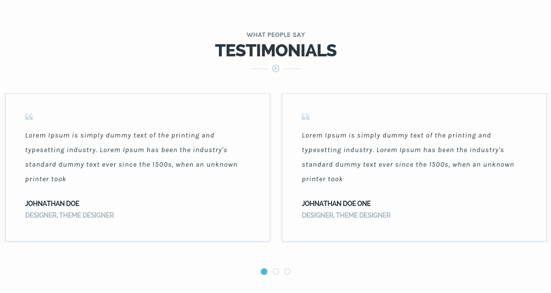 Transport Testimonials Section