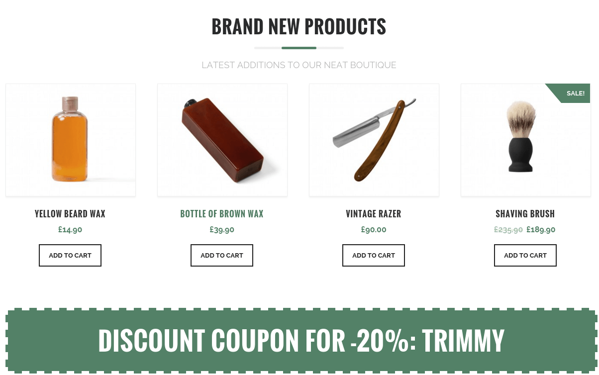 Trimmer New Products Section