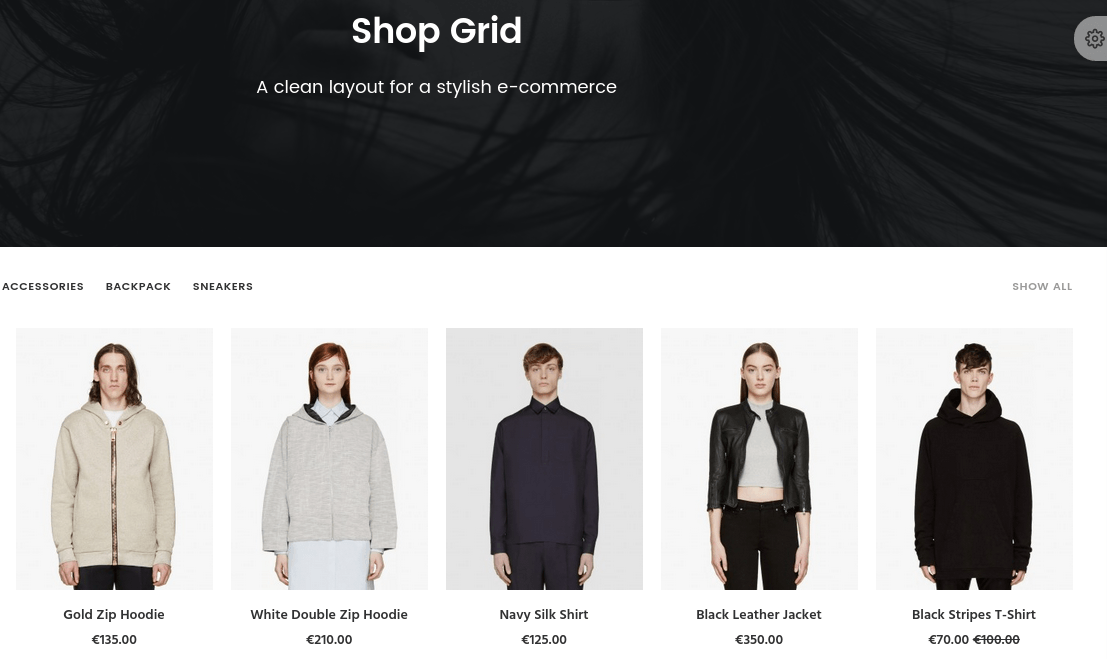 Uncode Shop Page