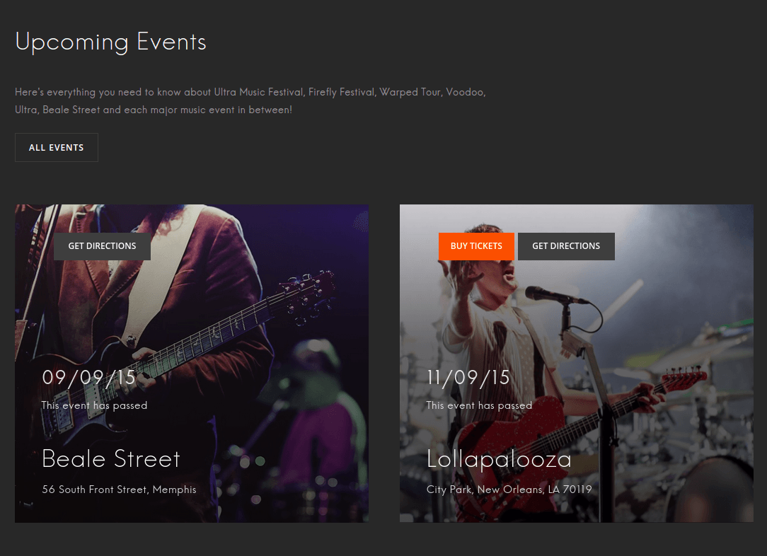 Upcoming Events on Eveny