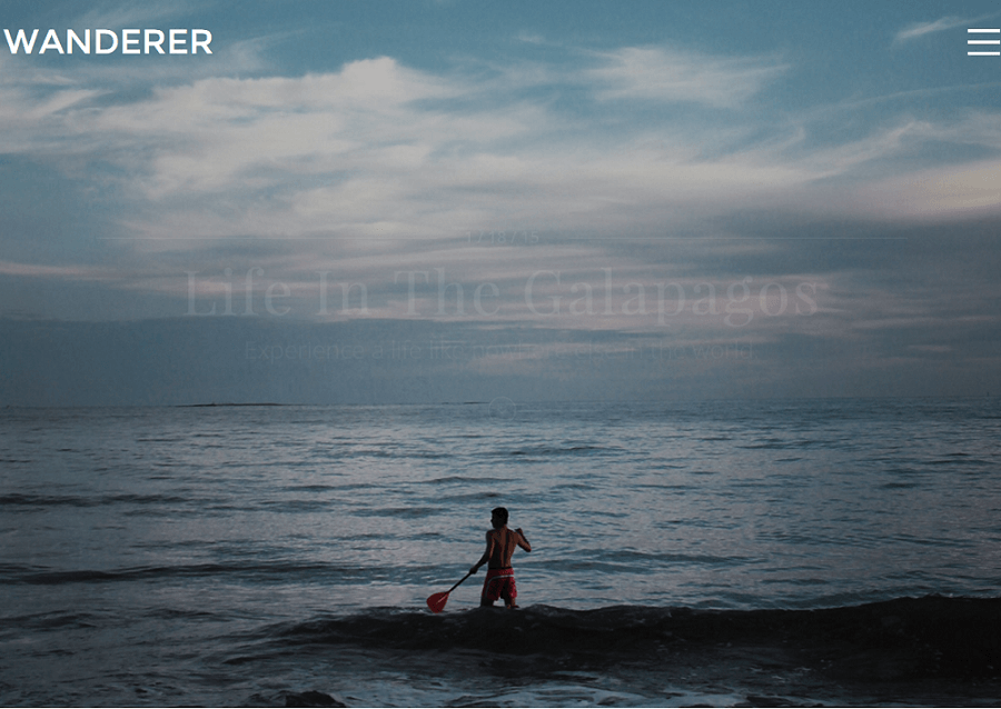 Wanderer- Front page featured with beautiful fullscreen image