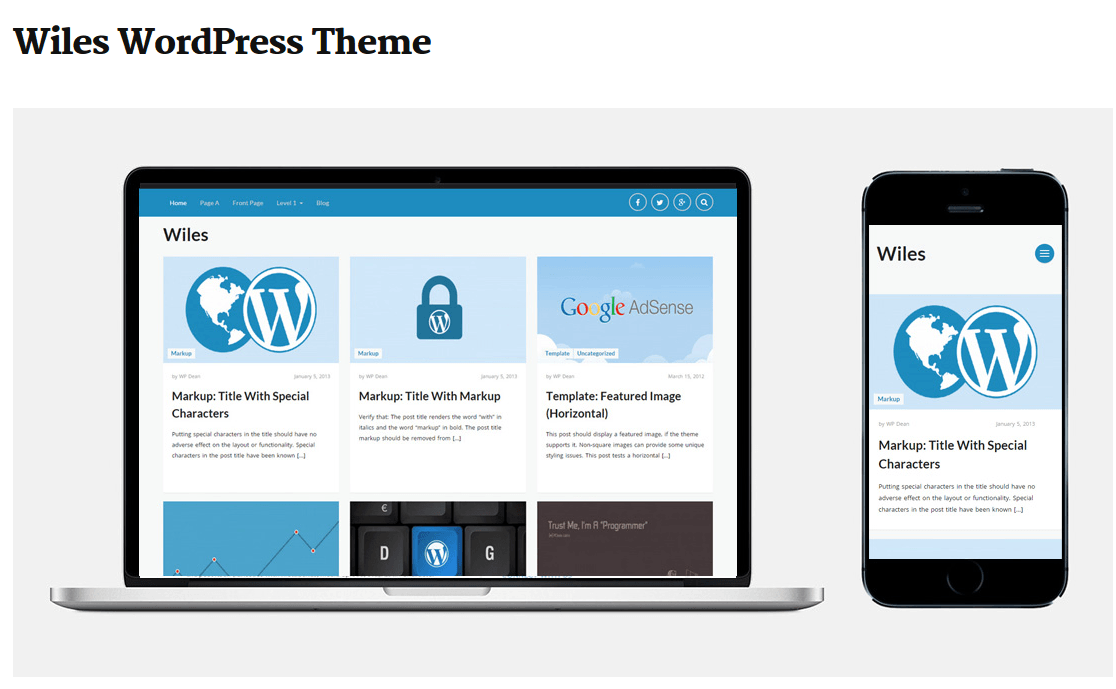 Wiles Theme Page