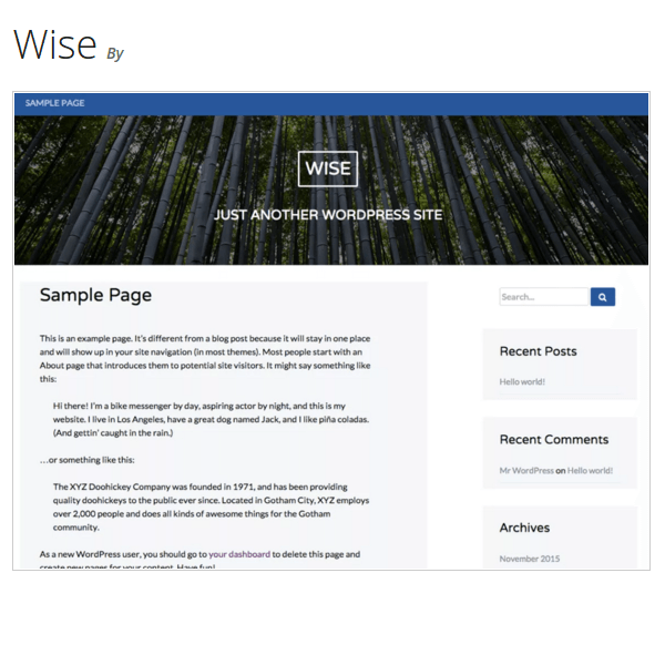 Wise WordPress Theme