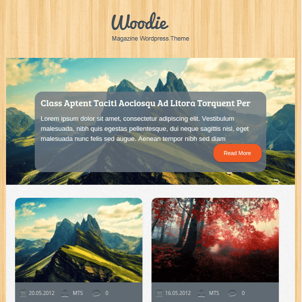 Woodie Tri-Column, Multipurpose WordPress Theme
