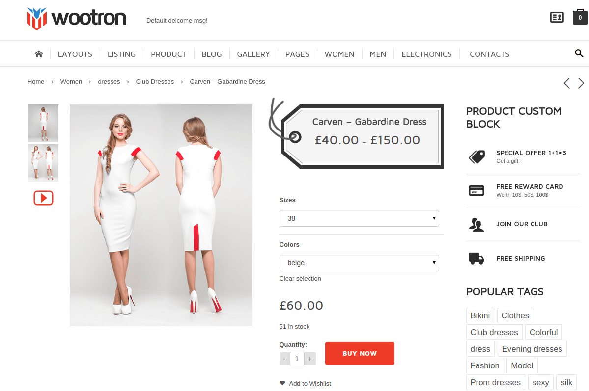 Wootron Product Page