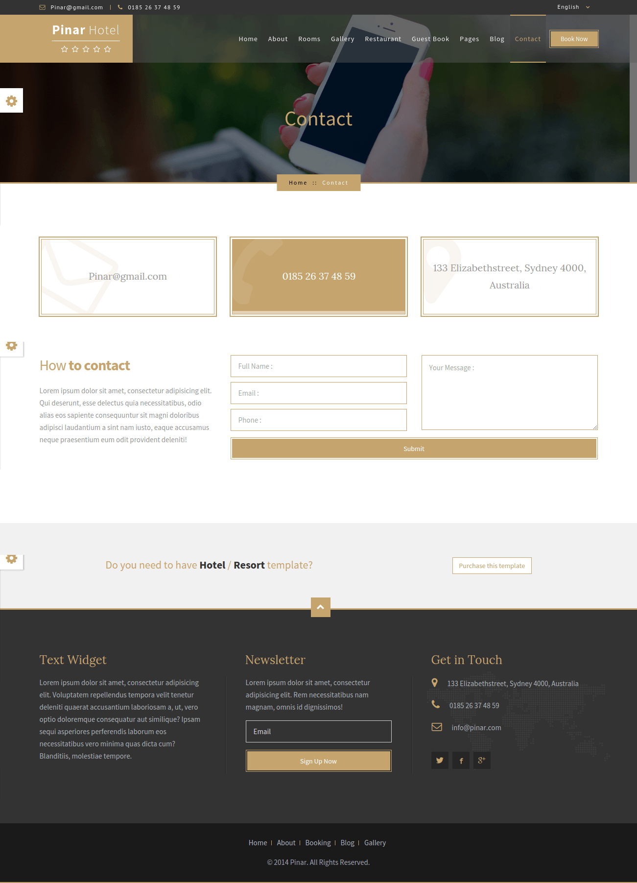 WordPress-Pinar-Hotel