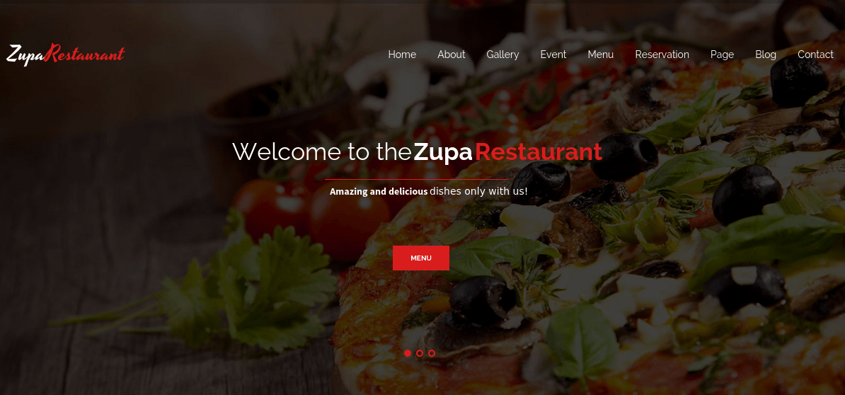 ZupaRestaurant Home Page
