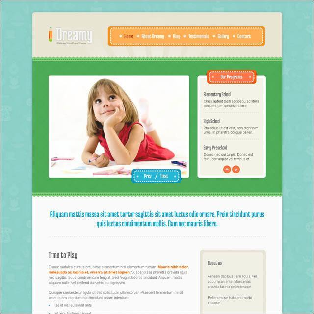 dreamy-responsive-children-wordpress-theme
