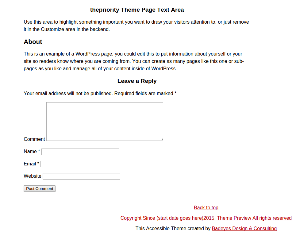 thePriority About Page