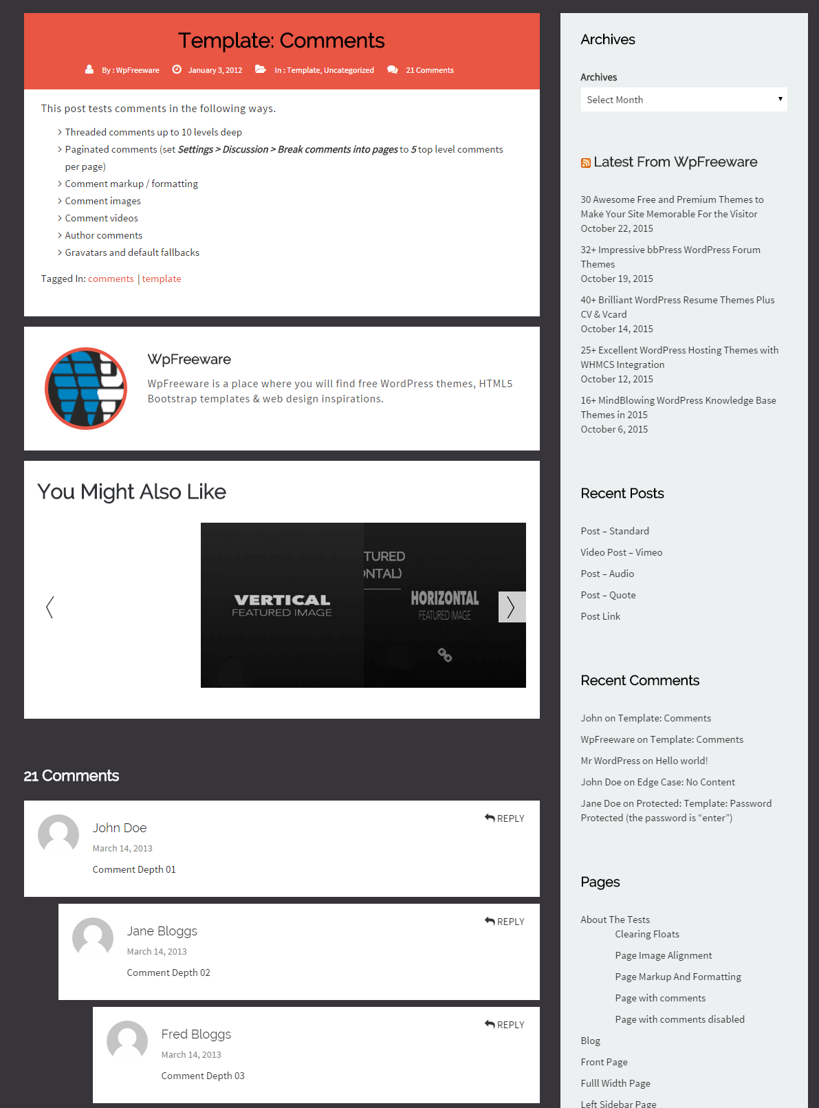 wpf flaty- Comments template