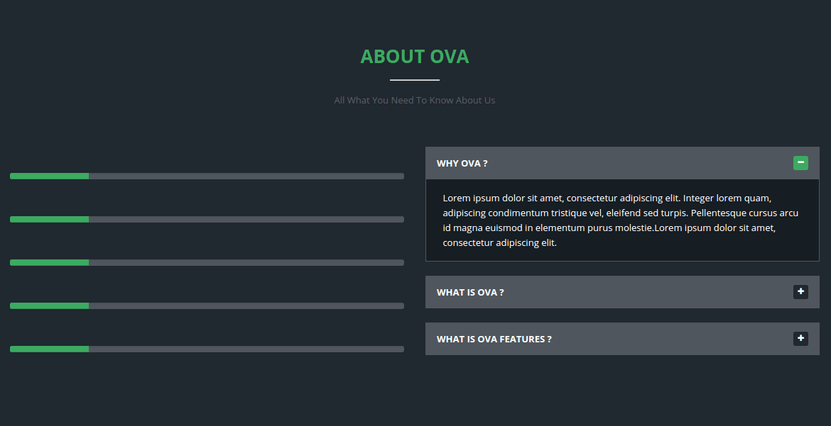 About Section of OVA
