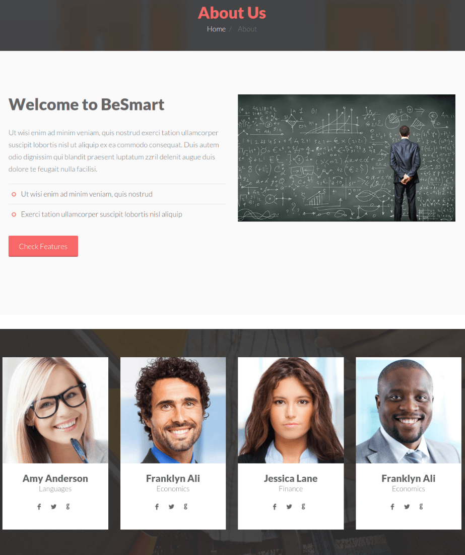 About Us Page - BeSmart