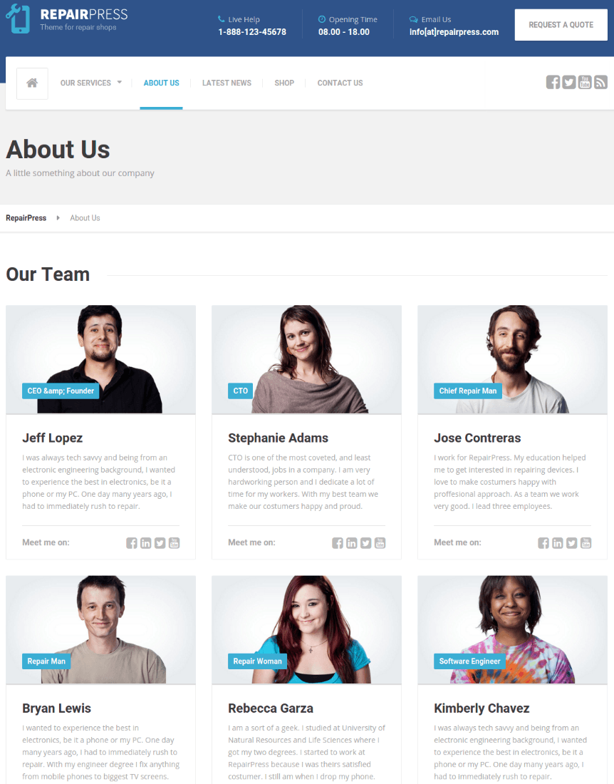 About Us Page - RepairPress