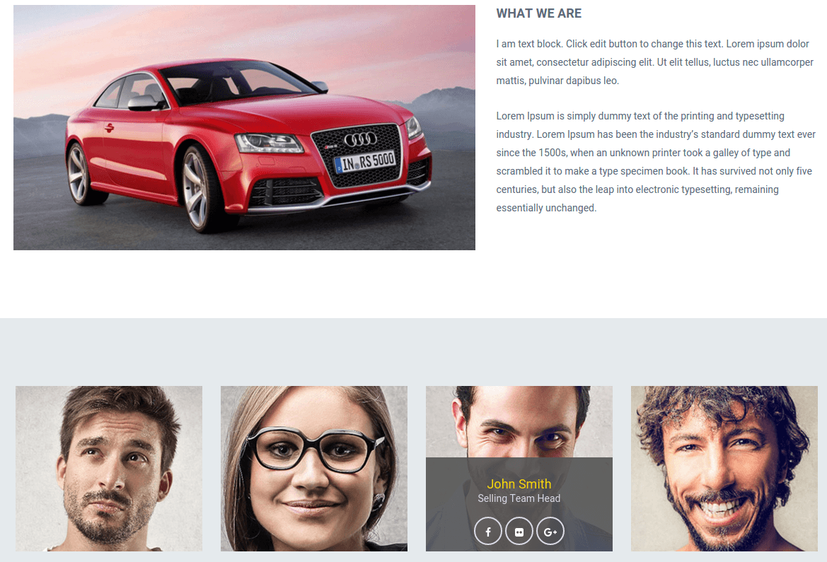 About Us Page of Automan