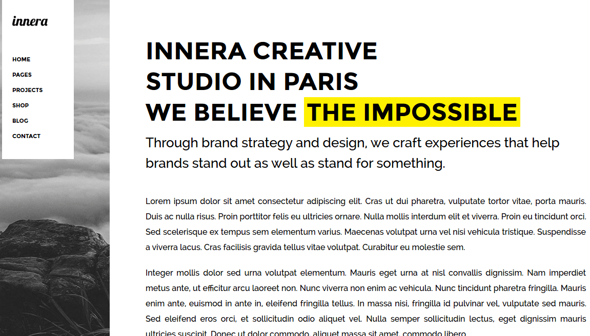 About page of innera