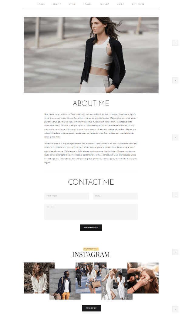 About us page of Street style