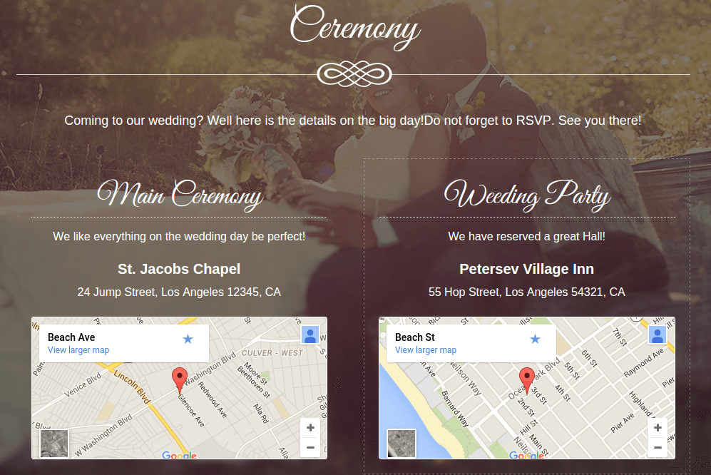 Aimer Ceremony Page