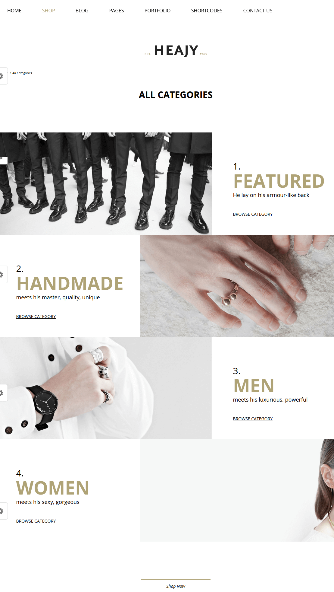All categories Page of Heajy